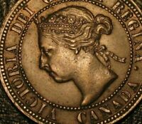 Old Canadian Coins 1896 Canada Large Cent Highgrade Sharp Beauty HIGH & FAR SIX