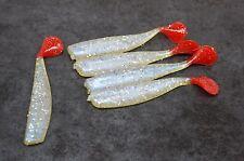 Soft Plastic Lure 5 Pack 7.5cm Scented Minnow Shad Whitebait Bream Flathead