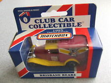 Matchbox AFL 1995 Football Collectable Club Car BRISBANE BEARS A Model Ford