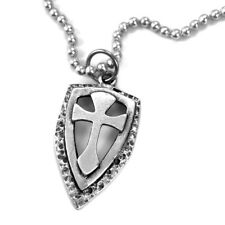 Shield with Cross Necklace - Made in the USA