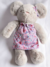 TESCO F&F GREY MOUSE IN FLORAL DRESS Comforter Soft Toy NEXT DAY POST