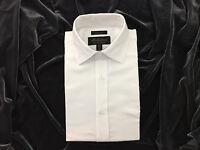 Michelson's Men's French Cuffed Dress Shirt, White, Size 14.5 32/33