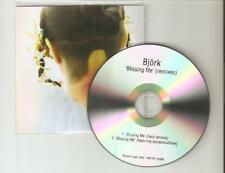 Bjork - Blissing Me Remixes - New Two Track Uk Cd Promo And Press Sticker