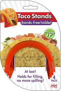 Jokari 240060 Taco Stands - Easy Fill Less Mess Dishwasher Safe Orange Pack of 4