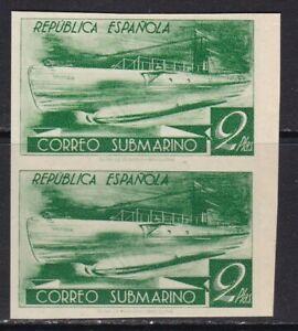 España - 1938 - SUBMARINO  - Bloque 2 -   Edifil 776cccs - MNH Valor 184 €