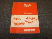 1989 Mazda 323 Hatchback Original Electrical Wiring Diagram Manual LX SE 1.6L