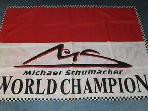 Michael Schumacher - World Champion - Fabric Flag   ( some marking )