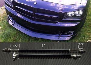 "Black 8""-11"" Strut Shock Rod Bar for Dodge Bumper Lip Diffuser Spoiler splitters"