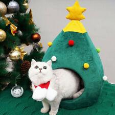 Christmas Nest Tree Shape Super Soft Plush Pet Beds - Dog Cat Bed Cushion House