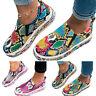 Women Slip On Flat Snakeskin Loafers Pumps Casual Trainers Sneakers Shoe Size