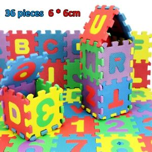 36 Pcs Soft EVA Foam Baby Kids Play Mat Alphabet Number Puzzle Toy Free Shipping