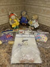 Muffy Vanderbear Lot Of 7. Muffy, Hoppy And Unopened Outfits