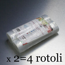 Sacchetti sottovuoto alimenti. KIT 4 ROTOLI 20x600 cm. BPA Free/Made in Italy