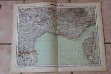 Ancienne carte Atlas universel Géographie 1919 N°14 France Sud Est - Hachette