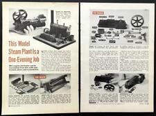 Stuart-Turner Model Steam Engine Kit 1953 original pictorial