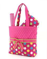 Belvah quilted polka dots 3 piece baby diaper bag LPDQ1103L(FSMT) BS795