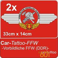 Freiwillige Feuerwehr FFW der DDR Aufkleber für IFA W50 ROBUR LO BARKAS B1000