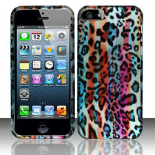 Apple iPhone 5 5S SE Rubberized HARD Protector Case Cover Rainbow Leopard Lines