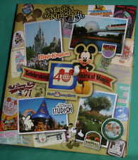 DISNEY PARK 2011 DISNEY WORLD 40 YR OF MAGIC ANNIVERSARY PUNCH OUT PHOTO ALBUM