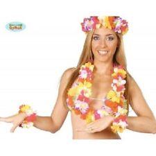 25 collane hawaiane con bracciali e fascia per capelli kit hawaiano 16429