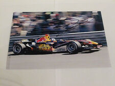 Rare Signed David Coulthard 8 x 6  Size photo ( Red Bull Star Wars car Monaco )