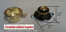 Largo Alcance Radiador Cuello de latón y tapa de presión de 7 lb