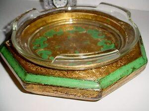 ITALIAN GOLD FLORENTINE HOLLYWOOD REGENCY CANDY DISH BOWL