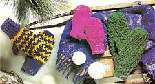 QUICK Kid's Cozy Mittens/Apparel/Crochet Pattern Instructions