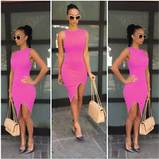 Sexy-Womens-Sleeveless-Bandage-Bodycon-Evening-Party-Cocktail-Club-Mini-Dress-NW