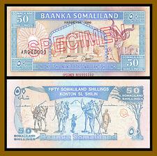 Somaliland 50 Shillings, 1996 P-4s Specimen S/N 0000380 Unc