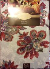 """New Bardwil Linens Floral Verona Tablecloth 60"""" X 102"""""""
