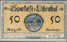 Notgeld - Lilienthal - Sparkasse - 50 Pfennig 1921 - Serie H