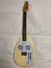Used! VOX APACHE-1 Teardrop Type Travel Guitar Vintage White Built-in Speaker