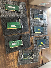 Lot Of 7 Various Network Interface Card (Nic)