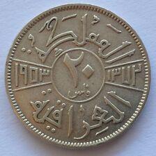 1373 AH 1953 Kingdom of Iraq 20 Fils Dirham Silver Coin King Faisal II (XF) Rare
