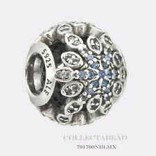 Authentic Pandora Silver Crystalized Snowflakes Blue Crystals Bead 791760NBLMX