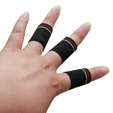 Stretchy Finger Protector Hand Grip Wraps Sports Finger Compression Brace 10Pcs