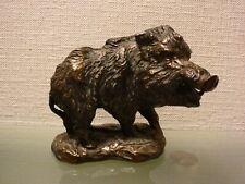 Alte Bronze Figur Tierfigur Eber Wildsau