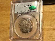1834 Capped Bust Quarter PCGS XF 45 CAC ORIGINAL COIN  No Reserve BEATIFUL!!!!