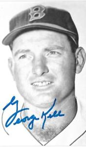 GEORGE KELL HALL OF FAME MLB B&W VINTAGE 3X5 POSTCARD BASEBALL d.2009