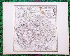 XVIII ème - Bohême Silésie Moravie Lusace Belle Carte par Vaugondy 35x27 de 1761