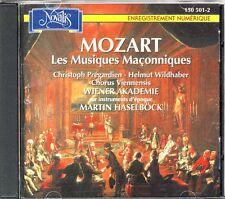 Mozart: Freimaurermusiken    Christoph Pregardien  Martin Haselböck Novalis 1995