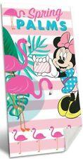 Disney Minnie Mouse Pink Flamingo Kids Children Holiday Swim Beach Towel