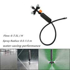 5-head Irrigation System Mist Cooling Nozzle Garden Greenhouse Flow Adjustable