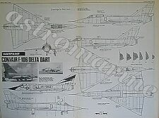 F-106 DELTA DART Warpaint 1.72 Scale Plans Drawings Aviation News April 1977