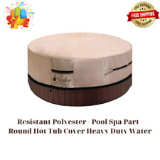 Resistant Polyester - Pool Spa Part - Round Hot Tub Cover Heavy Duty Water