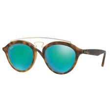Gafas de sol de hombre de espejo redondo de plástico