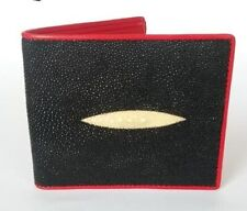 Stingray Skin Wallet Black and Red Genuine Leather Men Wallet Handmade