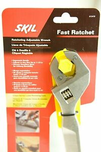 SKIL Fast Ratcheting Adjustable Wrench, Red and Black