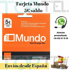 Sim card/micro/nano prepaid orange world 5 € balance roaming Europe included!